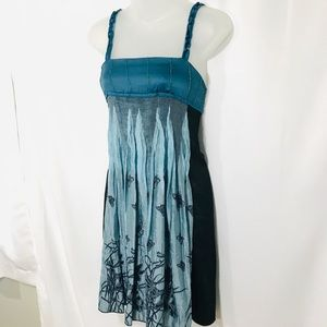 Style Teal Beaded Baby Doll Fairy Butterfly Dress